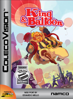 King & Balloon for Colecovision Box Art