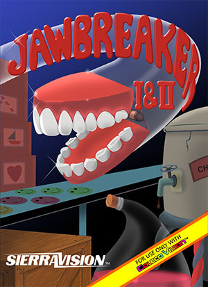 Jawbreaker 1 and 2 for Colecovision Box Art
