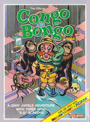 Congo Bongo for Colecovision Box Art