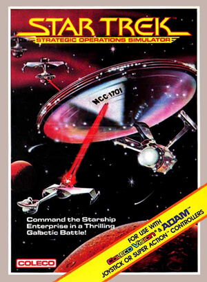 Star Trek: Strategic Operations Simulator for Colecovision Box Art