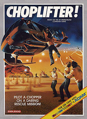 Choplifter! for Colecovision Box Art