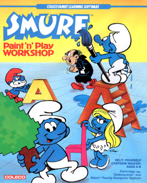 Smurf Paint'n Play Workshop for Colecovision Box Art