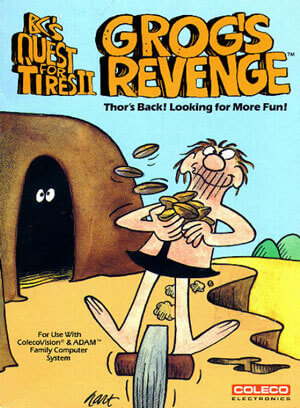 B.C.'s Quest for Tires II: Grog's Revenge for Colecovision Box Art