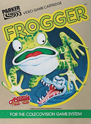 Frogger for Colecovision Box Art
