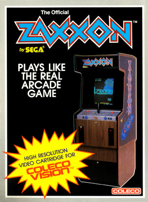 Zaxxon for Colecovision Box Art