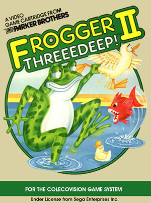 Frogger II: Threeedeep! for Colecovision Box Art