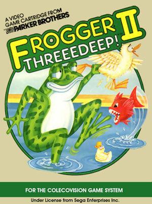 Frogger II: Threeedeep! for Colecovision Box Art