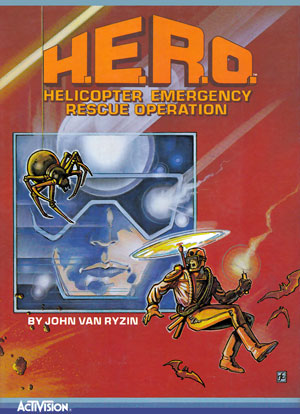 H.E.R.O. for Colecovision Box Art
