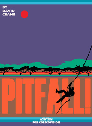 Pitfall! for Colecovision Box Art