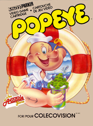 Popeye for Colecovision Box Art