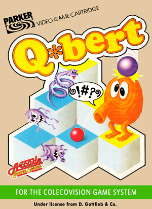 Q*bert for Colecovision Box Art