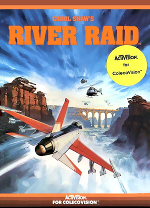 River Raid for Colecovision Box Art