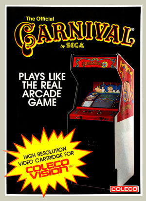 Carnival for Colecovision Box Art
