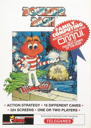 Boulder Dash for Colecovision Box Art