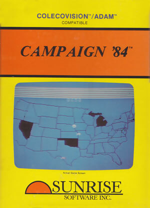 Campaign '84 for Colecovision Box Art