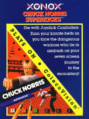 Chuck Norris Superkicks for Colecovision Box Art