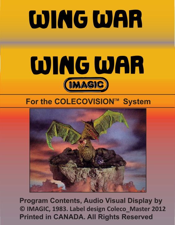 Wing War Label